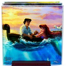 Thomas Kinkade Disney's Little Mermaid Prints 4 Piece Fused Glass Coaster Set image 3