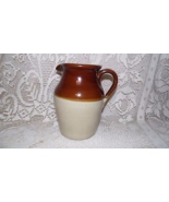 VINTAGE STONEWARE CROCK PITCHER PEARSON'S OF CHESTERFIELD ENGLAND 4 PT. - $19.79