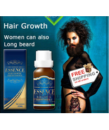 Beard Fast Growth Thicker Mustache Natural Herbal Serum Sideburns Eyebro... - $19.99