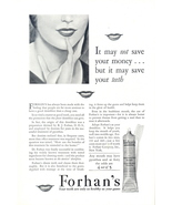 1930 Forhan's The Dentist's Dentifrice print ad - $10.00
