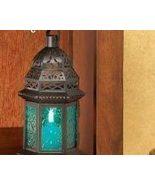 Blue Glass Moroccan-Style Lantern - $9.95