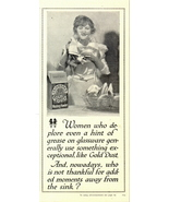 1937 Fairbanks Gold Dust Washing Powder dish print ad - $10.00