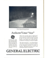1926 GE Amherst New York Votes for Street Lights ad - $10.00