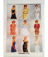 Princess Diana Royal Gowns Plate Block of 9 Com... - $12.99