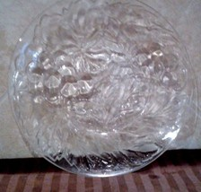VINTAGE KIG MALAYSIA CLEAR PRESSED GLASS PLATES... - $10.40