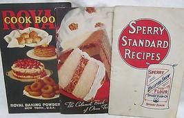 Sperry Standard Recipes, Royal Cookbook, Calumet 3 titles - $35.00