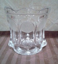 VINTAGE FOSTORIA CLEAR COIN GLASS CANDY DISH WITHOUT LID 1887 COLLECTION - $21.53
