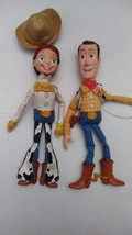 "Disney Store Toy Story Woody Jesse 15"" Pull String Dolls Pixar Non working - $34.99"