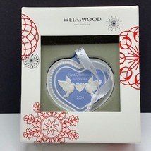 Wedgwood christmas ornament England First 2016 turtle doves figurine together 2 - $34.65