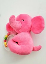 Carters Just one You Child of Mine Pink Elephant Stuffed Plush Baby Ratt... - $29.69