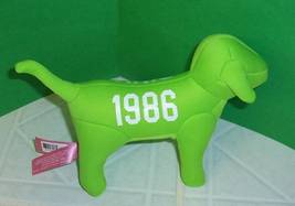 "Victoria's Secret Bright Spring Green 1986 Plush 7"" Puppy Dog Pink - $6.49"