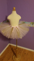 Pink and Gold Baby Girl Tutu - $25.00