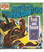 G.I. Joe The Rescue From Adventure Team Headquarters 45 rpm Record & Book - $9.95