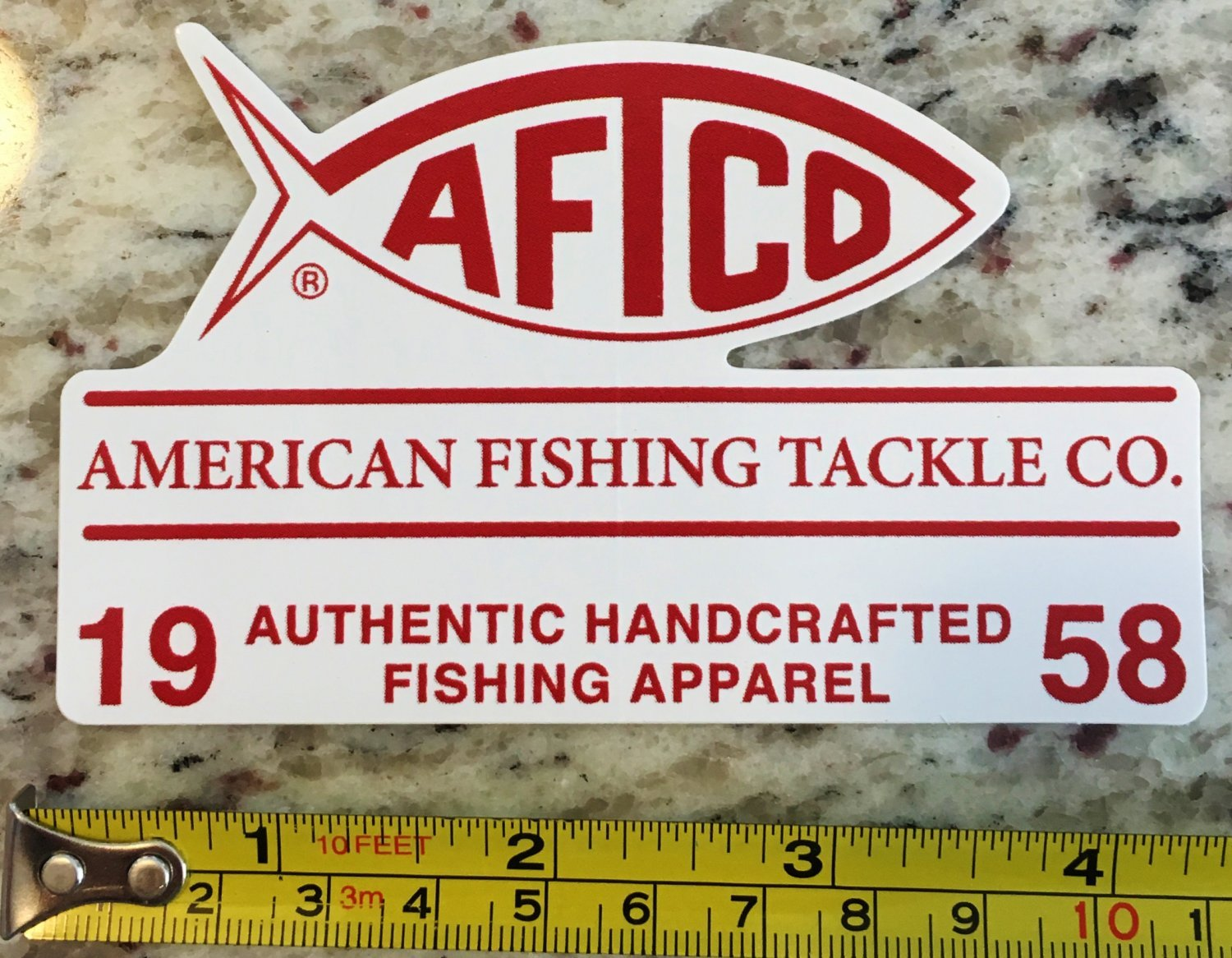 4 5 aftco fishing sticker decal american fishing tackle