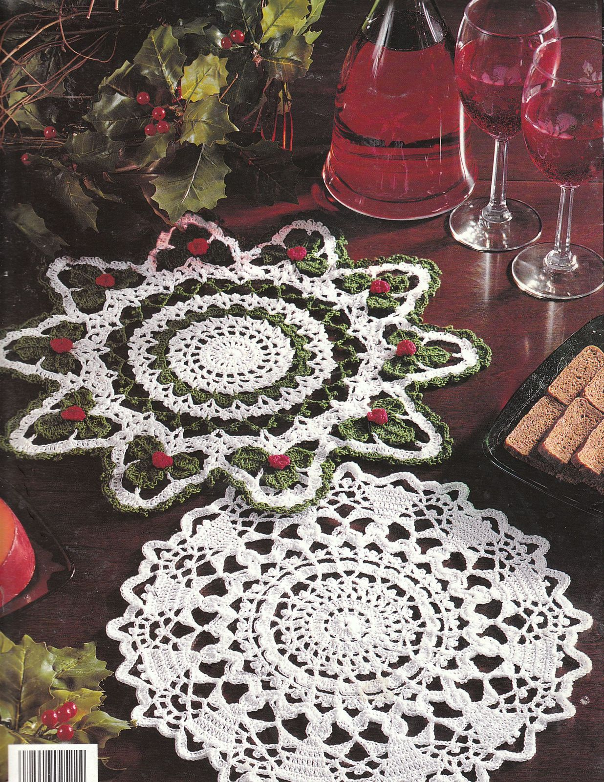 Christmas Doilies Crochet Patterns Doily Bell Wreath Tree ...