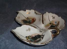 Tri Section porcelain leaf dish Matador Design - $10.88