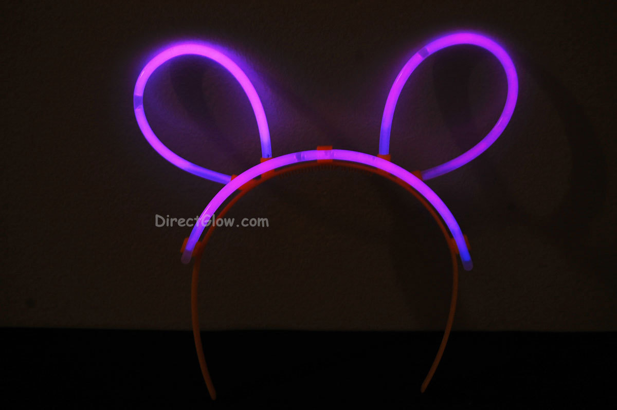 Pink glow bunny ears1