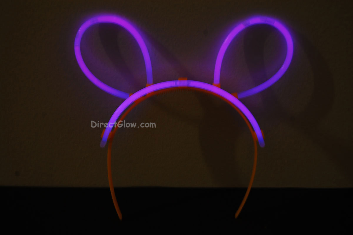 Primary image for Set of 5 Purple Glow Bunny Ears