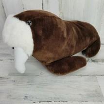 Vtg 1991 Sea World Brown Walrus Plush Stuffed Animal 17 Inches Long - $14.54