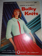 Coats & Clark's Bulky Knits Sweater Pattern Book 1956 - $5.99