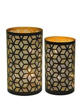 Vintage Moroccan Tea Light Votive Holders(Set of two) Brass Indian Handm... - $26.73