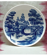 """Vintage Nasco Handpainted Lakeview 9"""" Blue & White Plate // Replacement - $9.00"""