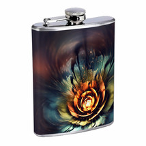 Hybris Energy Flowers Em1 Flask 8oz Stainless Steel Hip Drinking Whiskey - $13.81