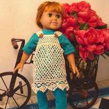 Crocheted Lace dress for 18 inch dolls - $15.00