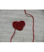 Crochet Heart sew on applique for purses, hats,... - $1.25
