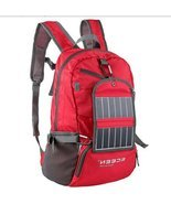 Red 3.25 Watt Solar Backpack Cell Phone Tablet ... - $129.00