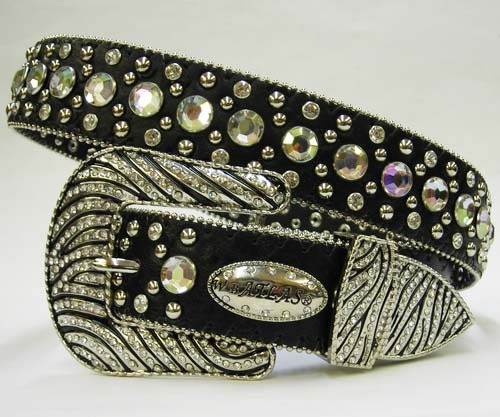 BLACK ZEBRA BUCKLE white RHINESTONE WESTERN BUCKLE COWBOY GIRL BELT S M L or X
