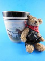 Folkcraft Stoneware mug Running Horses by ScottyZ & Ellis plush Cowgirl ... - $6.92
