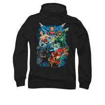 JUSTICE LEAGUE TO THE RESCUE ADULT PULLOVER HOODIE LICENSED NEW jla360-afth - $33.99+