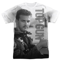 TOP GUN GOOSE THUMBS UP 100% POLYESTER SUBLIMATED MENS T-SHIRT FRONT ONL... - $20.95+