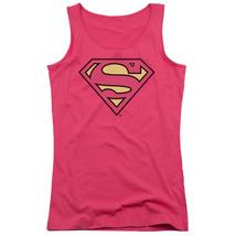Supergirl Classic Logo Shield Juniors Tank Top Dc Comics Licensed Dco499 Jtk - $21.99