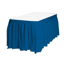Touch of Color Easy Stick Plastic Table Skirt, 14-Feet, - royal blue - $6.92