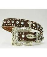 S M L XL BROWN DISTRESS FRENCH CROSS RHINESTONE WESTERN BUCKLE COWBOY G... - $74.99