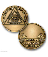 AA ALCOHOLICS ANONYMOUS 21 YEAR ENGRAVABLE  REC... - $15.51