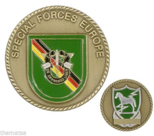 ARMY SPECIAL FORCES EUROPE MILITARY CHALLENGE COIN