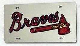 ATLANTA BRAVES LOGO MIRROR SILVER LASER MLB  BA... - $47.02