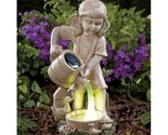 Solar lighted girl watering statue 1 thumb155 crop