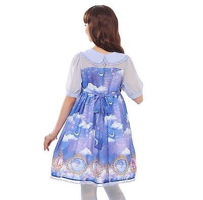 Angelic Pretty x Disney Store Japan Dreamy Luna Rapunzel Lolita OP Kawaii Dress image 4
