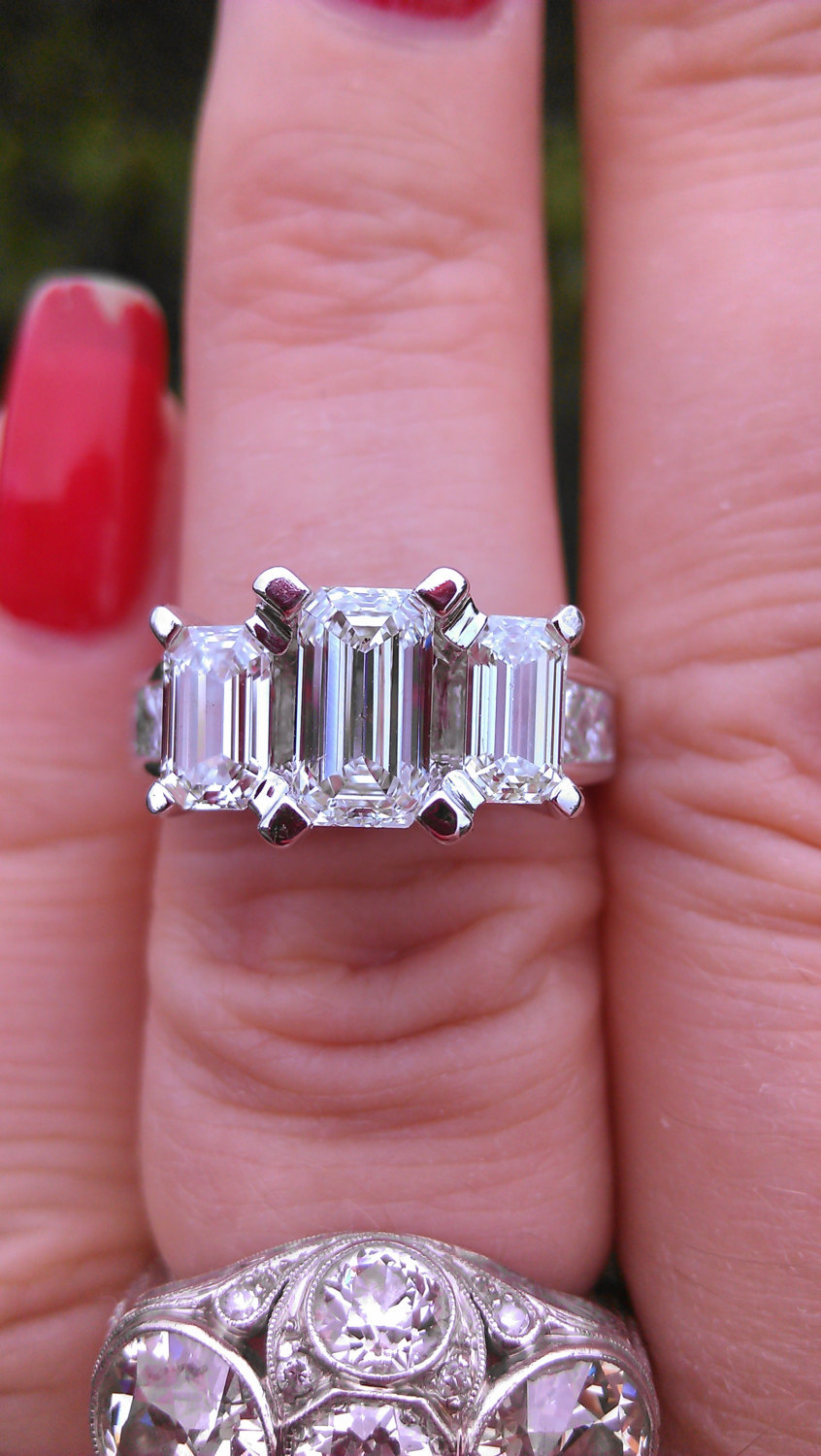 14k Gold 2.5ct Emerald Cut Diamond Wedding and 50 similar items