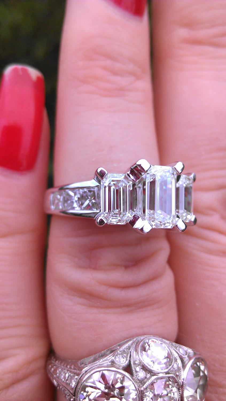 14k Gold 2.5ct Emerald Cut Diamond Wedding and 50 similar items