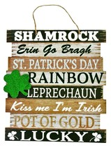 CUTE! St Patricks Day Wood Hanging Home Decor Door Wall Sign Sayings Sha... - $9.90