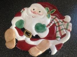 Fitz & Floyd Christmas Santa Claus St Nicholas Candy Dish Tray Plate Bra... - $17.99