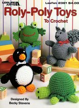 Roly-Poly Toys To Crochet Leaflet 2361 Penguin, Bunny, Happy/Sad Face, L... - $5.95