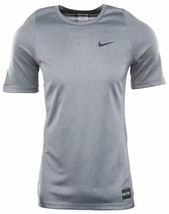 New Mens Nike Elite Shooter Basketball Dry Fit Cool Grey Crew Neck T Shirt Tee S - $29.69