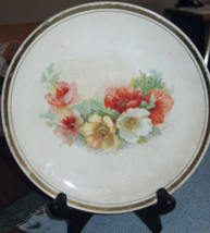 """Dresden China Salad Plate-Floral-7 1/2""""- US 1900's - $8.00"""