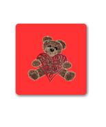 Bear Valentine Background Shape-Digital Clipart - $4.00